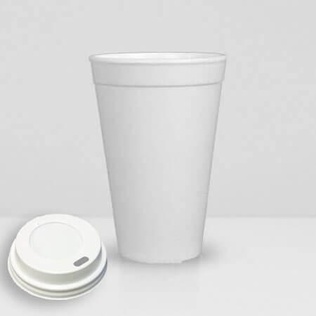 Stiropor čaša za kafu za poneti sa poklopcem