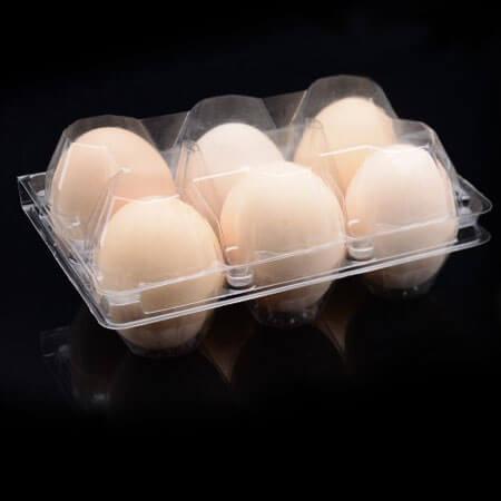 Ambalaža za 6 jaja od PET plastike